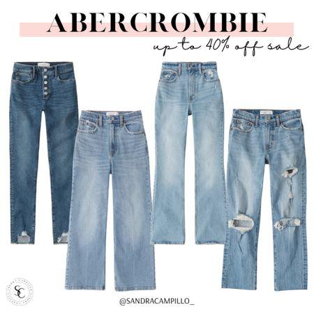 ✨Sale Alert✨ Get up to 40% off sale at Abercrombie. Starting with these cute jeans 😍  #momjeans #boyfriendjeans #highrisejeans  #LTKunder100 #LTKsalealert #LTKitbag