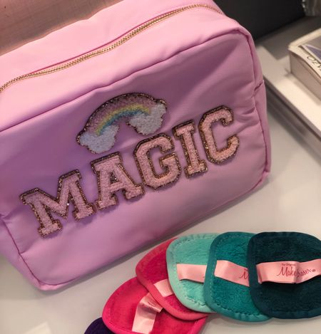 I love to pack with packing cubes and pouches. This Disney inspired large pouch is so cute! I also swear by my Makeup Eraser. These travel sized squares are a must have.  #LTKtravel