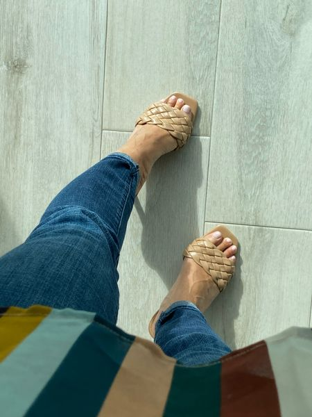 Sale alert 50% off on this season's hottest heels/shoes/sandals #ltksalealert they come in white or black as well!   #LTKSeasonal #LTKshoecrush #LTKunder50