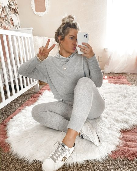 Casual friday ✌🏼 added these joggers to my cart after I shared them on my stories and they're perf for lounging 🤍🤍🤍 http://liketk.it/3fLHw #liketkit @liketoknow.it #ltk #LTKunder100 #LTKunder50 #LTKshoecrush
