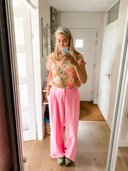 Outfits of the week-Sunday  Off to celebrate my mom's birthday with a lunch and a walk in the woods.   Wearing a large blouse but could have definitely sized 1-2 down. Pants are Zara, wearing an XL.     #LTKunder50 #LTKeurope #LTKsalealert