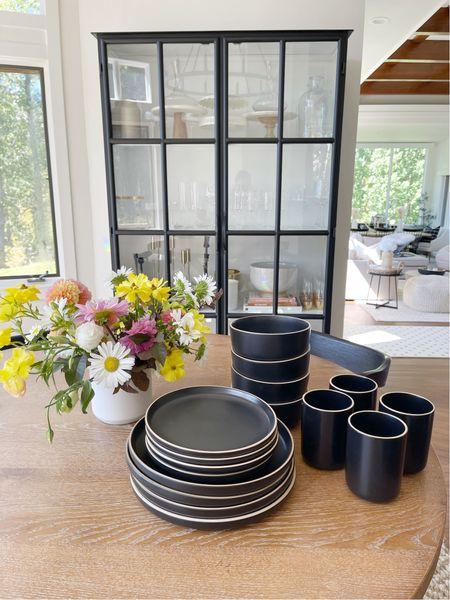 H O M E \ new #walmart find!! Loving this black dishware set only $42!!!  #walmart #walmarthome #walmartfind #dinnerware #plates #diningroom  #LTKhome #LTKunder50