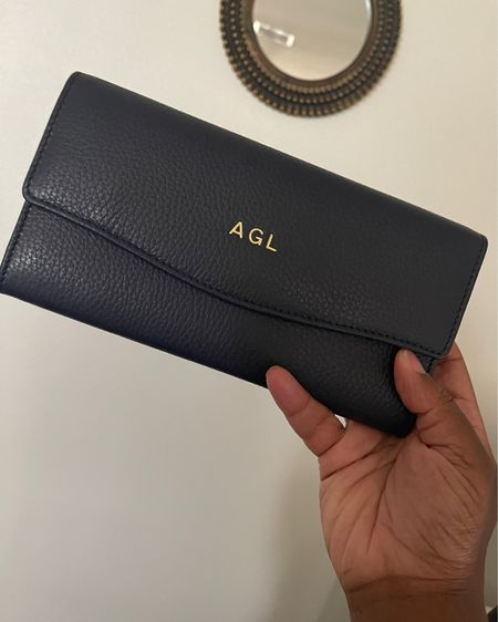 This wallet is a Mother's Day gift from my grandma, and I love it so much! Sold out in black but available in navy. Linking similar styles as well - a bit of a splurge but so worth it. http://liketk.it/3g5vq #liketkit @liketoknow.it