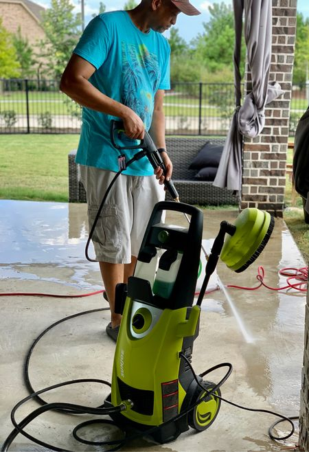 We have a project going on at our house. My husband needed to pressure wash the patio ahead of the work being done. He used this Sun Joe High Pressure Washer. So many great uses and inexpensive.   #LTKSeasonal #LTKfamily #LTKhome