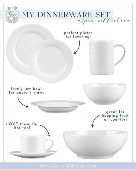 Absolutely in love with my new dinnerware set! Perfect essentials, great quality, and all the pieces you need for the perfect dinner party setup! Aspen Collection from Crate & Barrel ✨  #LTKhome #LTKunder50 #LTKwedding