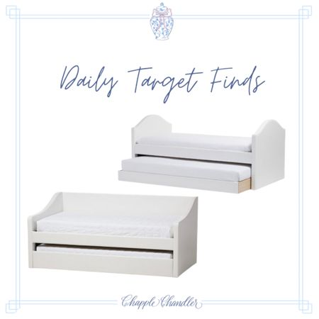 Kids bedroom daybed trundle bed Target home decor finds Target kids room blue and white Serena and Lily nightstand end table dresser grandmillennial modern feminine classic traditional modern traditionalist preppy  #LTKkids #LTKfamily #LTKhome