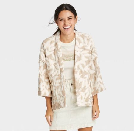 Cute little quilted jacket! Perfect for fall in the south!