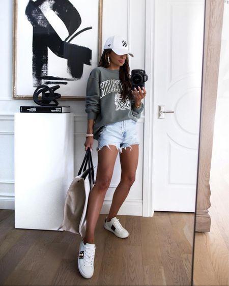 Abercrombie summer outfit  Abercombie sweatshirt on sale Wearing an XS #denimshorts  http://liketk.it/3i0YO #liketkit @liketoknow.it   #LTKshoecrush #LTKstyletip #LTKunder100