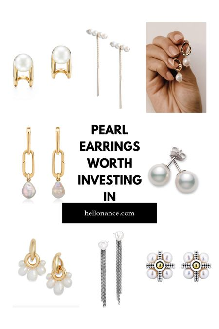 High-quality pearls are a wearable jewelry worth investing in. While the obvious default you may reach for gold or silver, pearls are the best! They are classy and elegant and goes with both casual and formal attire!  Snag your favourite before they are Sold-Out!   #NSaleEarrings #Nsalejewelry   #LTKstyletip #LTKsalealert #LTKworkwear