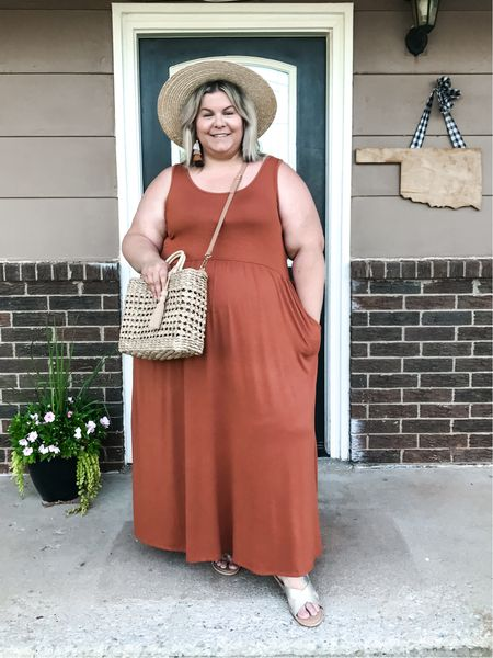 This plus size maxi dress from Target style is the best $22 you'll spend on a summer outfit!   #LTKcurves #LTKSeasonal #LTKunder50