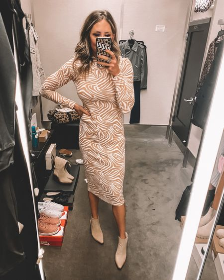 Animal print body con dress from the #nsale. Runs TTS. Pair with booties or mules. On sale for $104. Perfect for work! - still in stock   #LTKsalealert #LTKstyletip #LTKworkwear