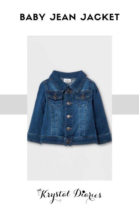Target + Baby + Jean jacket + gender neutral   #LTKbaby #LTKunder50 #LTKstyletip
