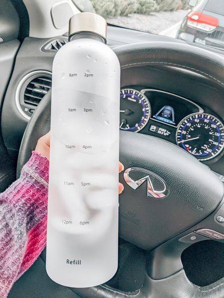Under $20 gift idea! Water bottle with time markers, timer water bottle, reusable water bottle, Amazon finds, Infiniti, Amazon gifts, prime gift ideas, gifts for her, secret Santa, stocking stuffers   #LTKgiftspo #LTKfit #LTKunder50