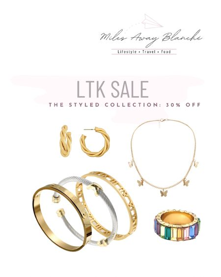 The Styled Collection sale! 30% off! jewelry with stackable bracelets & the cutest butterfly necklace. http://liketk.it/3huTf #liketkit @liketoknow.it #LTKunder50 #LTKsalealert #LTKwedding