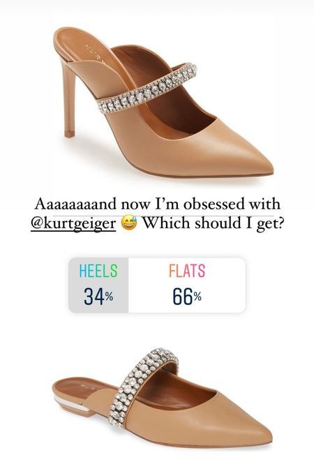 In case you can't decide, both are linked 😍 I went with the flats!   #LTKshoecrush #LTKstyletip #LTKwedding