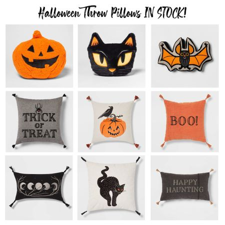 Rounded up so many cute Halloween pillows!! The trick or treat pillow is finally online along with so many other fun throw pillows!  #LTKSeasonal #LTKunder50 #LTKhome