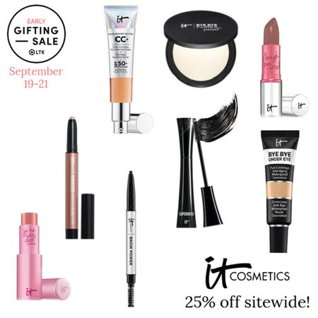 The LTK Early Gifting Sale ends tomorrow! All of your makeup and skincare favorites and bestsellers from it Cosmetics are on sale for 25% off through September 21st, only in the LTK app!  . Cc cream foundation concealer mascara setting powder tinted balm eyeshadow crayon brow pencil lipstick   #LTKunder50 #LTKSale #LTKsalealert