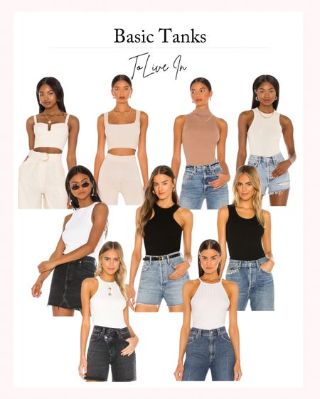 Basic Tanks to Live In - My Favorite Basic Tanks, Layering Tanks, Neutral Tanks, Fall outfit ideas, fall outfit inspiration, staple pieces   #LTKstyletip