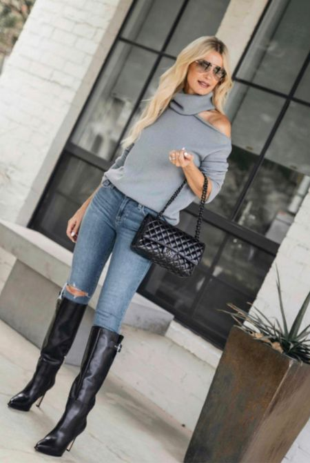 Fall V I B E S ➰ these jeans are incredibly slimming, my sweater is so cozy and soft, and these sleek knee-high boots are guaranteed to take you many places in style this fall and winter!  Follow my shop on the @shop.LTK app to shop this post and get my exclusive app-only content!  Follow my shop on the @shop.LTK app to shop this post and get my exclusive app-only content!  #liketkit  @shop.ltk http://liketk.it/3np8p Follow my shop on the @shop.LTK app to shop this post and get my exclusive app-only content!  #liketkit  @shop.ltk http://liketk.it/3nCBO
