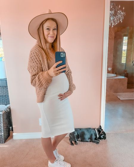𝓘𝓽'𝓼 𝓱𝓪𝓹𝓹𝓮𝓷𝓲𝓷𝓰! 🤰  Can you believe it? Yeah, I can't either. Okay, I know for some of you this might feel like it happened overnight (since I've been posting Tulum content from several months ago) but wow, this bump (and pregnancy in general) has happened so fast!   I found out I was pregnant in early October—a week after my trip to Tulum and just one day before we flew to French Polynesia.   My first trimester brought on extreme exhaustion (oh the exhaustion!) and a sinus infection, so it felt like November and December were a blur. Now we're in 𝓜𝓪𝓻𝓬𝓱 (also—what the hell happened to February!? 🤦🏼♀️).   Now I'm nearing the end of my second trimester and almost to my third—totally freaking out at how quickly this journey has gone. I'm now #26weekspregnant (6.5 months)!  Photo from a couple weeks ago when I ventured out on my first outing in months, at #24weekspregnant  𝓔𝓮𝓮𝓮𝓮𝓴, I'm almost in my third trimester! That's fucking 𝕎𝕀𝕃𝔻!  Side note: like my look? You can instantly shop my looks by following me on the LIKEtoKNOW.it shopping app - @liketoknow.it http://liketk.it/39NpD   #blogger #tblogger #travelbloggerstuckathome #bumpstyle #pregnancystyle #bumpdate #mypregnancyjourney #bumplife #bumpie #babyontheway #bumppic #preggobelly #preggolife #pregnancyfashion #stylepost #mylookoftheday #fashioninspo #ootdinspo #personalstyleblog #stylelookbook #ootdbloggers #outfitdetails #socal #camarillo #liketkit #LTKstyletip #LTKbump