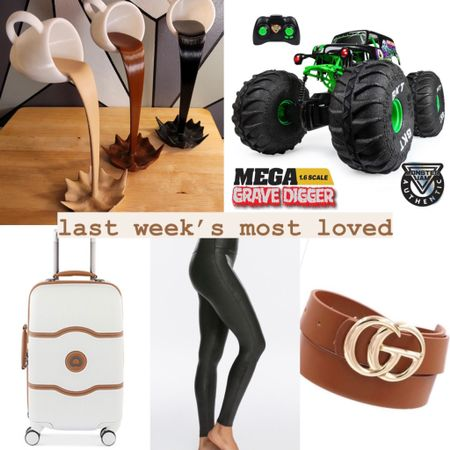 Last week's most loved in gifts (adding this category back in as the holiday season gets nearer!): - 3D printed coffee sculpture - remote control monster truck - delsey luggage on sale - Spanx faux leather leggings  - a designer inspired GG belt (20% off with code LAURAC20)  #LTKGiftGuide #LTKkids #LTKHoliday