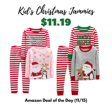 Hurry and grab these Christmas pajamas for your kids! They are on sale today for $11.19 as the Amazon deal of the day. They are available in baby, toddler and kids sizes for boys and girls.   #LTKbaby #LTKsalealert #LTKgiftspo