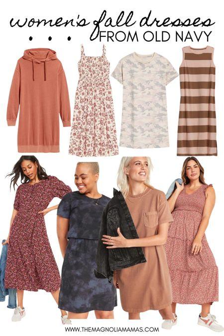 Fall dresses from Old Navy. All under $50!   #LTKSeasonal #LTKstyletip #LTKunder50