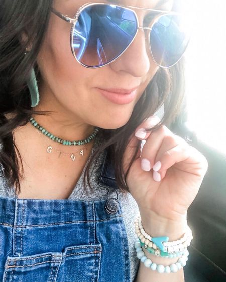 Happy Monday! ☀️ I've got my denim✔️turquoise✔️comfy tee✔️ & aviators✔️ and I've linked everything on LIKEtoKNOWit. +the tee's are $8 and come in several color choices!! 🙌 *If you're unsure what that is or you need help figuring it out the app just ask me! In the meantime...  ☀️Shop your screenshot of this pic with the LIKEtoKNOW.it shopping app  ☀️Follow me (Noel_Naturally) and stay up to date on fashion and food!  Xo, Noël   http://liketk.it/3epDH #liketkit @liketoknow.it   #LTKunder100 #LTKsalealert