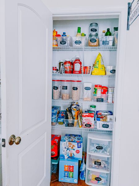 While I dream of one day having a walk in pantry, this one will do. I got a bunch of containers from the dollar store and found these great labels that come with a white marker to keep everything in its place! http://liketk.it/38sGt @liketoknow.it #liketkit