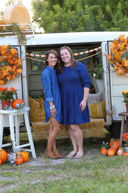Denim dresses great for fall photo shoots   #LTKstyletip #LTKSeasonal #LTKunder50
