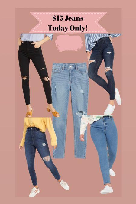 Jeans only $15! Today only    #LTKunder50 #LTKsalealert #LTKstyletip