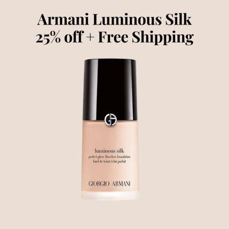 Armani luminous silk foundation   #LTKSeasonal #LTKunder100 #LTKstyletip