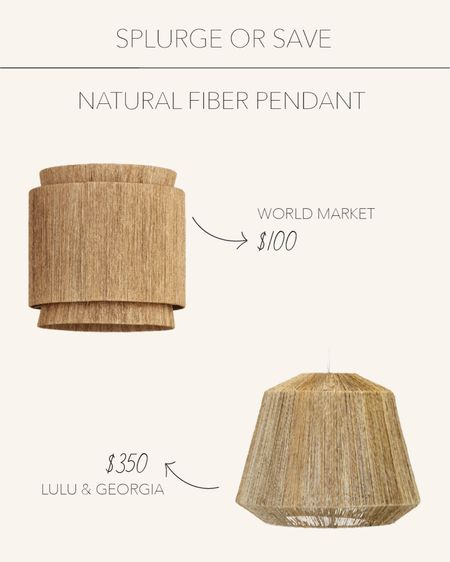 Splurge or Save | Add a natural fiber pendant to your bedroom, hallway or kitchen to give your space texture and warmth 💡  #LTKhome #LTKstyletip