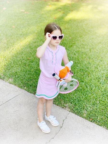 Birdie loves tennis camp! Linking her top and skirt plus tennis accessories.   #LTKunder100 #LTKfit #LTKkids