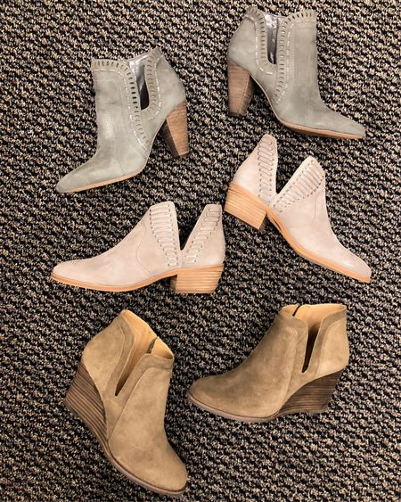 ✨Best of the Booties. ✨ I have 5 favorite booties of the NORDSTROM ANNIVERSARY SALE, these are three of them. See IG Stories to see the other two.  Love that all of these are under $100 with sale!! They will all go back to full price after sale in August. Every year the booty sell out so I would run not walk to get these! 🏃🏼♀️ http://liketk.it/2ww8S #liketkit @liketoknow.it #LTKunder100 #LTKshoecrush #LTKsalealert #LTKstyletip