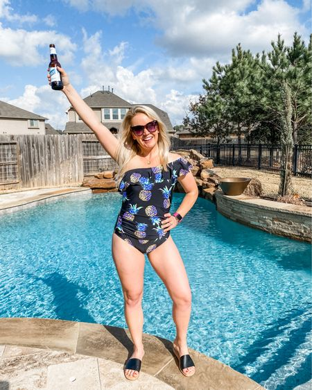 This one shoulder swimmie is perfect for lounging poolside either with or without kiddos running around! It's super flattering and supportive. Runs TTS.    http://liketk.it/3bjuc #liketkit @liketoknow.it #LTKunder50 #LTKSpringSale #StayHomeWithLTK