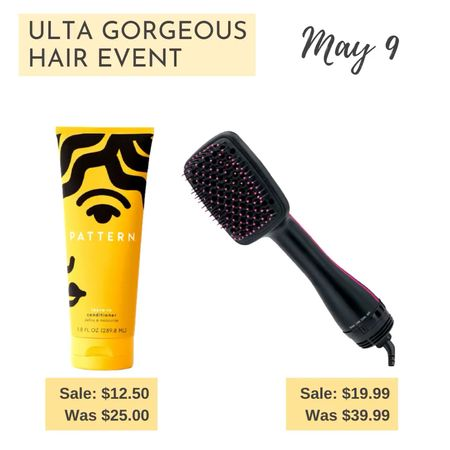 It's the first day of the Ulta Gorgeous Hair Event. Here my two picks for the day - Pattern Leave-in Conditioner and The Revlon One-step Paddle Dryer.  #LTKbeauty