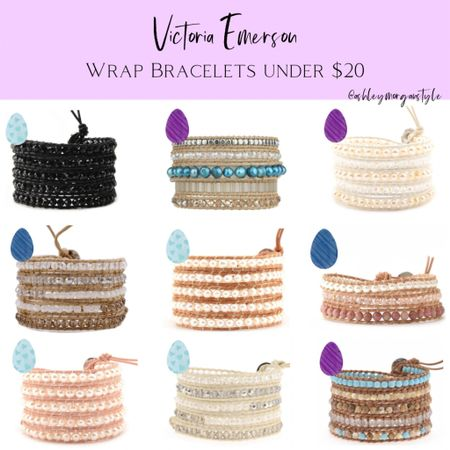 Victoria Emerson has some super cute wrap bracelets and Apple Watch bands all under $20 right now! Love these bracelets - they fit any wrist and look great with any outfit! @liketoknow.it #liketkit #LTKSpringSale #LTKsalealert #LTKunder50 #victoriaemerson #bracelets #jewelry #sale #under20 #ltkspring http://liketk.it/3blHa