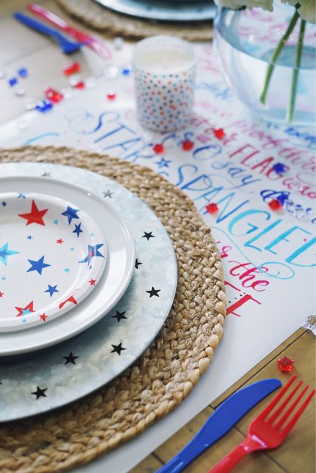 4th of July tablescape  Summer home decor red white and blue  #competetion   #LTKSeasonal #LTKhome #LTKunder50 http://liketk.it/3iuny #liketkit #LTKfamily @liketoknow.it @liketoknow.it.home