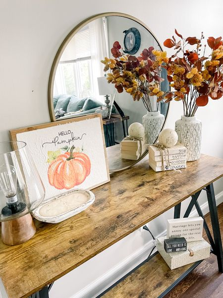 Entryway table, fall decor, fall, home decor, Target finds, Wayfair furniture, console table   #LTKhome #LTKunder100 #LTKSeasonal