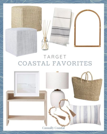Target is one of my favorite places to shop for affordable home decor so sharing this week's coastal finds! - Hostess gifts, summer decor, summer decorations, summer home decorations, coastal decor, beach house decor, beach decor, beachy decor, beach style, coastal home, coastal home decor, coastal interiors, coastal family room, living room decor, living room accessories, coastal decorating, decorative accents, coastal house decor, home accessories decor, coastal accessories, neutral decor, neutral home, blue and white home, blue and white decor, summer accessories, entryway table decor, coffee table decor, gifts gifts for her, coastal living room decor, couch pillows, blue and white pillows, blue & white pillows, throw pillows couch, 14x20 throw pillows, lumbar pillows, lumbar throw pillow, lumbar pillows for chair, lumbar pillows for bedroom, coastal throw pillows, coastal pillows, affordable throw pillows, target pillows, blue and white striped pillows, decor under 50, home decor under $50, target home, target decor, target finds, textured decor, target artwork, target home, coastal artwork, beach artwork, wall decor living room, artwork for home, affordable art, coastal farmhouse decor, cane, seagrass, rattan, bedroom inspiration, coastal bedroom, coastal living room, neutral living room, cube, living room cube,  target studio mcgee, hearth & hand with magnolia, round cube, living room cube, ottoman stool, foot stool, foot rest, extra seating, diffuser, reed diffuser, hand towels bathroom, hand towels white, hand towels for bathroom, hand towel with fringe, striped hand towels, rattan mirror, arched rattan mirror, arched mirror, coastal mirror, seagrass basket, market basket, beach bag, woven handbag, wrapped console table, affordable console table, small console table, console table with shelf, decorative bowl filler, wood beads, decorative wood beads, white table lamp, resin lamp, textured lamp, neutral lamp   #LTKunder50 #LTKhome #LTKunder100
