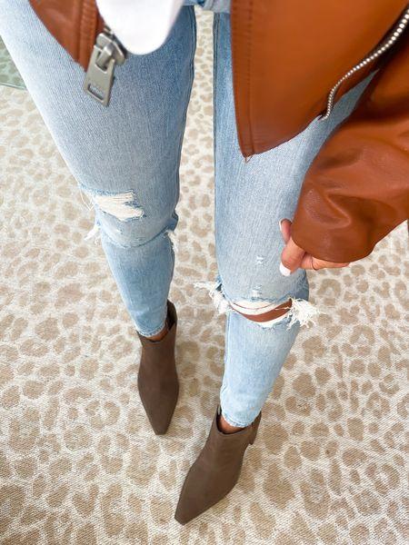 Booties on sale jeans on sale jacket on sale   #LTKsalealert #LTKunder50 #LTKunder100