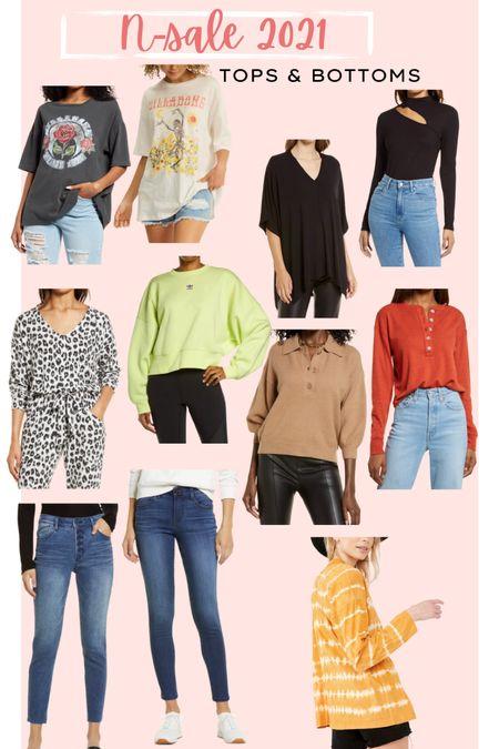 NSALE // Nordstrom anniversary sale // tops and bottoms // jeans // sweatshirts // sweaters graphic tees   #LTKsalealert #LTKunder50