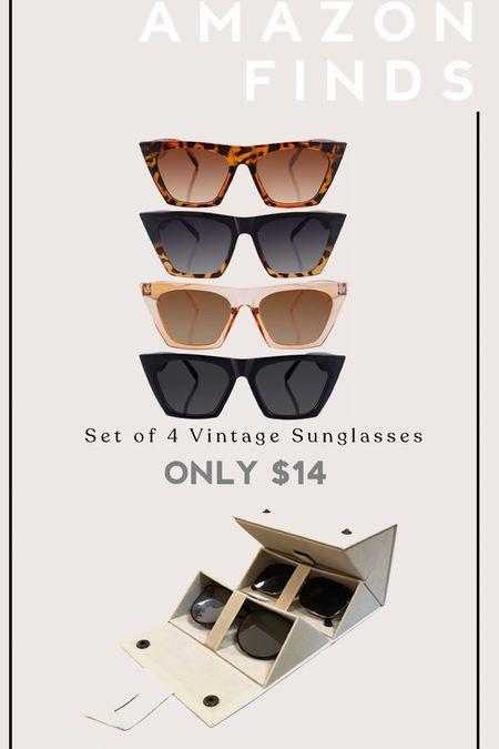 Amazon Finds. Sunglasses. Vintage sunglasses. Travel sunglasses organizer