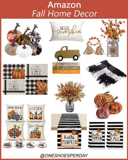 Amazon Home Decor  Fall Dining Room Decor  Fall Decor      http://liketk.it/3q0hU @liketoknow.it #liketkit #LTKHoliday #LTKSeasonal #LTKsalealert #LTKhome #LTKunder50 #LTKstyletip Pumpkins | Trow pillows | Trow Blankets | Plaid Trow Blankets | Amazon Favorites | Living Room Decor | Indoor Decor |