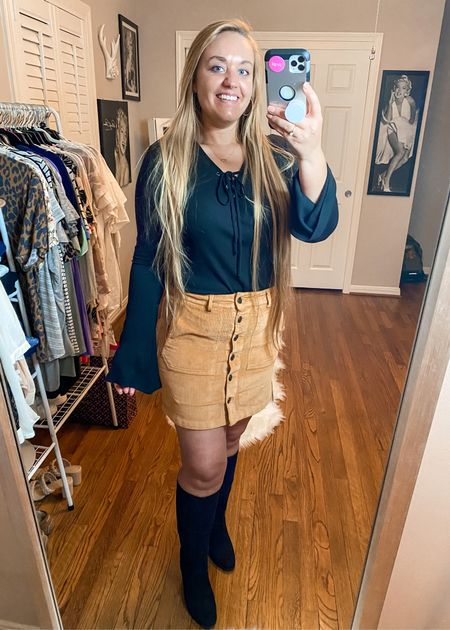 Camel corduroy button up skirt Mini skirt   #LTKunder50 #LTKshoecrush #LTKstyletip