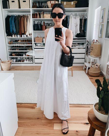 White cotton dress. Best white dresses   Dress - Zara xs (old) Sandals - Kaanas 5 Sunglasses - quay  http://liketk.it/3eMUm #liketkit @liketoknow.it #LTKshoecrush #LTKstyletip