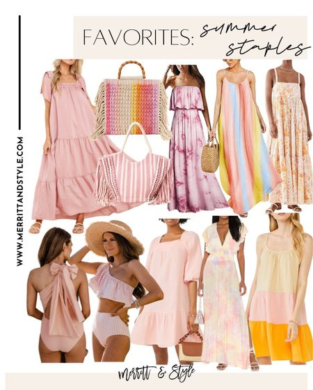 Pink dresses pink swimsuits Amazon dresses Amazon fashion Amazon swim Walmart fashion Walmart swim maxi dresses blush dress ombré dress   #LTKsalealert #LTKunder100 #LTKstyletip