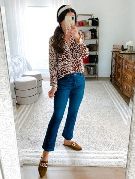 1, 2, 3, 4, 5 or 6 - which 48% OFF outfit do you all like best? We are so excited that @anntaylor just started a huge 48% OFF sale now through tomorrow! All the details are now on TheDoubleTakeGirls.com. These best selling jeans are part of the sale too. Y'all have to check out all the gorgeous new arrivals that include leopard print, blue tones and much more! 🛍 Shop it all via the LTK app or head to our blog and click the Shop Our IG tab. We hope y'all have a great night!   #LTKshoecrush #LTKsalealert #LTKstyletip