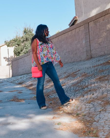 Sometimes life is just a walk through the park.  Especially these day!  How cute are these whispered wide leg jeans, and multi-color watercolor top from for from @forever21   I've linked them both for the sale today 😍.  I've also linked 2 other pair if you want that extra bell bottom flair.  (The top is size large and jeans size 30)  You can instantly shop all of my looks by following me on the LIKEtoKNOW.it shopping app @liketoknow.it #liketkit #LTKDay #LTKcurves #LTKunder50 http://liketk.it/2SKqc